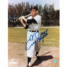 "Enos Slaughter Autographed ""Swinging"" New York Yankees 8"" x 10"" Photo"