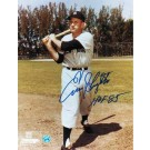 "Enos Slaughter New York Yankees Autographed 8"" x 10"" Photograph Inscribed with ""HOF 85"" (Unframed)"