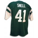 "Matt Snell Autographed New York Jets Green Throwback Jersey Inscribed with ""S.B. III Champs"""
