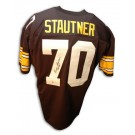 """Ernie Stautner Autographed Pittsburgh Steelers Throwback Jersey Inscribed with """"HOF... by"""