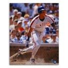 """Darryl Strawberry New York Mets Autographed 16"""" x 20"""" Gray Jersey Photograph Inscribed with """"86 WS Champs"""" (Unframed)"""