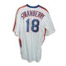 Darryl Strawberry New York Mets Autographed White Pinstripe Majestic Jersey
