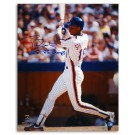 """Darryl Strawberry New York Mets Autographed 16"""" x 20"""" White Jersey Photograph Inscribed with """"86 WS Champs"""" (Unframed)"""