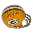 "Jim Taylor Green Bay Packers Autographed Riddell Pro Line RK Throwback NFL Full Size Football Helmet Inscribed with ""HOF 76"""