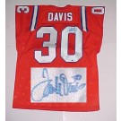 "Terrell Davis Autographed Custom Throwback ""Orange Crush"" Jersey by"