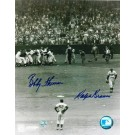 "Bobby Thomson Autographed and Ralph Branca Dual Signed 8"" x 10"" Photo"