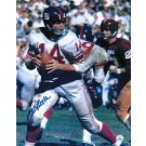 """Y.A. Tittle Autographed """"Back to Pass vs Redskins"""" New York Giants 8"""" x 10"""" Photo"""