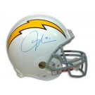 LaDainian Tomlinson Autographed San Diego Chargers White Throwback Riddell Pro Line Full... by