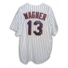 Billy Wagner Autographed New York Mets Majestic MLB Baseball Jersey (White Pinstripe) by
