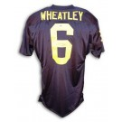 Tyrone Wheatley Autographed Custom Football Jersey (Navy Blue) by