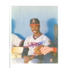 "Devon White California Angels Autographed 8"" x 10"" (Sitting) Photograph (Unframed)"