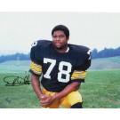 """Dwight White Autographed """"Pose"""" Pittsburgh Steelers 8"""" x 10"""" Photo"""