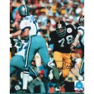 """Dwight White Autographed """"Rushing Staubach"""" Pittsburgh Steelers 8"""" x 10"""" Photo"""