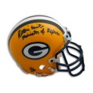 """Reggie White Autographed Green Bay Packers Mini Helmet Inscribed """"Minister of Defense"""""""
