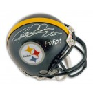"Rod Woodson Autographed Pittsburgh Steelers Mini Football Helmet Inscribed with ""HOF 09"""