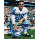 """Yale Lary Autographed """"On One Knee"""" Detroit Lions 8"""" x 10"""" Photo"""