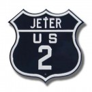 "Steel Route Sign:  ""JETER US 2"""