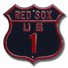 """Steel Route Sign:  """"RED SOX US 1"""""""