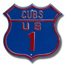 "Steel Route Sign:  ""CUBS US 1"""