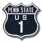 "Steel Route Sign:  ""PENN STATE US 1"""