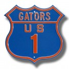 "Steel Route Sign:  ""GATORS US 1"""