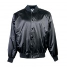 Adult Satin Baseball Jacket with Solid Trim (3X-Large) From Augusta Sportswear
