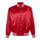 Youth Satin Baseball Jacket with Striped Trim From Augusta Sportswear