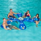 """Ahh-Qua Bar"" Inflatable Pool Float with 4 Sun Seats"