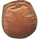 Cocoa Faux Suede Bean Bag Chair by
