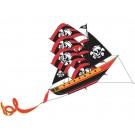 WindNSun® Super Size 3-D Pirate Ship Kite (Black/Red Stripes)