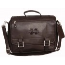 NCAA Mississippi State Bulldogs Copper Canyon Expandable Leather Briefcase by