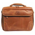 NCAA LSU Tigers Dakota Pines Leather Computer Briefcase by
