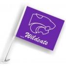 Kansas State Wildcats Car Flags - 1 Pair