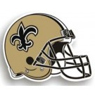 "New Orleans Saints 12"" Helmet Car Magnets - Set of 2"
