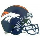 "Denver Broncos 12"" Helmet Car Magnets - Set of 2"