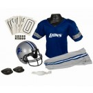 Franklin Detroit Lions DELUXE Youth Helmet and Football Uniform Set (Small)