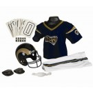 Franklin St. Louis Rams DELUXE Youth Helmet and Football Uniform Set (Small)