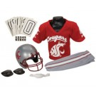 Franklin Washington State Cougars DELUXE Youth Helmet and Football Uniform Set (Small) by