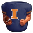 Illinois Fighting Illini Jersey Can Coolers - Set of 4