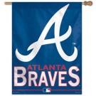 """Atlanta Braves 27"""" x 37"""" Vertical Flag / Banner"""