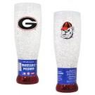 Georgia Bulldogs Crystal Pilsners - Set of 2