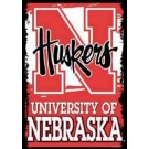 """Nebraska Cornhuskers 27"""" x 37"""" Vertical Flag / Banner"""
