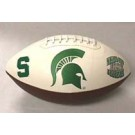 Michigan State Spartans Embroidered Full Size Football from Fotoball