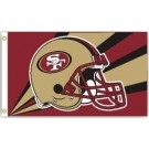 San Francisco 49ers 3' x 5' Helmet Design Flag from Fremont Die