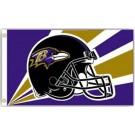 Baltimore Ravens 3' x 5' Helmet Design Flag from Fremont Die