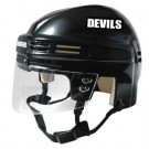 New Jersey Devils NHL Authentic Mini Hockey Helmet from Bauer (Black)