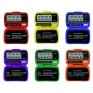 Ultrak Electronic Pedometers (Set of 6 Rainbow Colors)