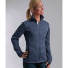 Women's Heathered Fleece Jacket with Thumbholes from Charles River Apparel