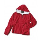 "The ""Kids' Collection"" Youth Classic Solid Nylon Windbreaker Pullover / Rain Jacket from Charles River Apparel"