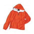 "The ""Classic Collection"" Classic Solid Nylon Windbreaker Pullover / Rain Jacket from Charles River Apparel"